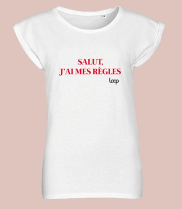 T-shirt Salut J'ai mes règles