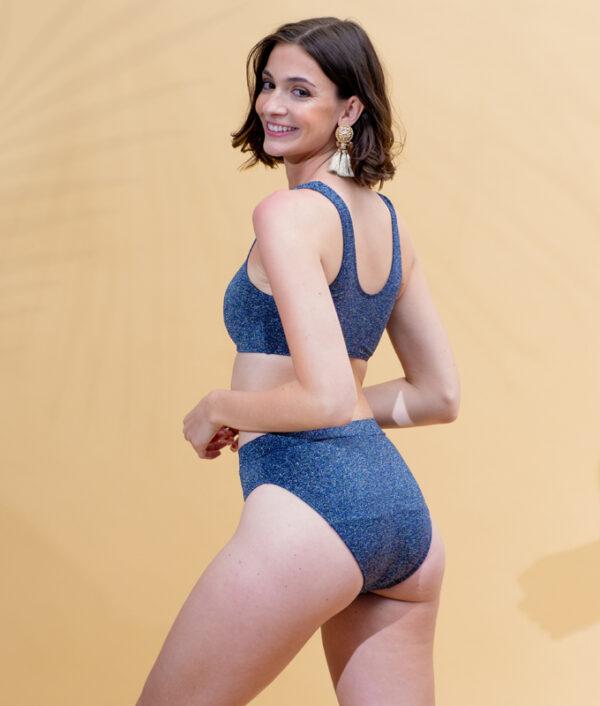 Bas maillot de bain menstruel Miami BlueShiny